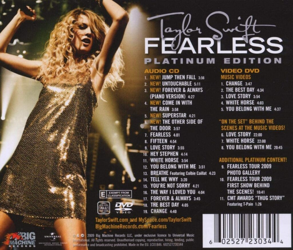 Fearless (2008) Back Cover: Platinum Edition