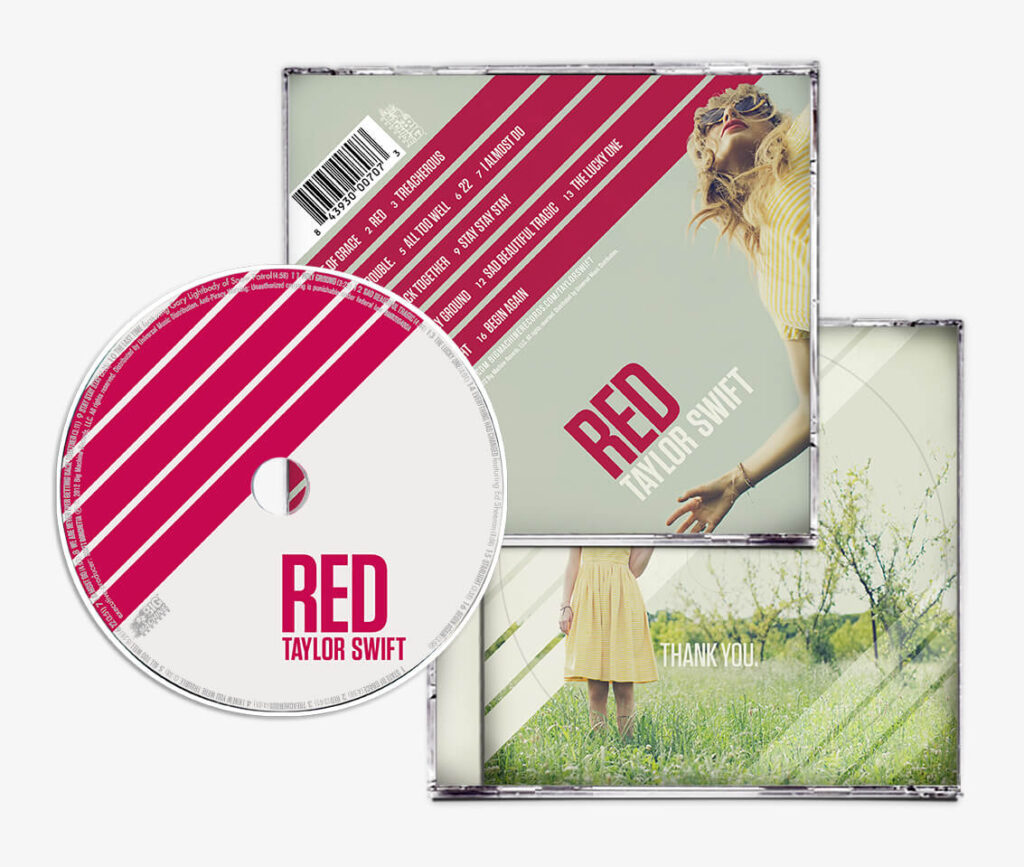 RED (2012) Back Cover and CD Inlay