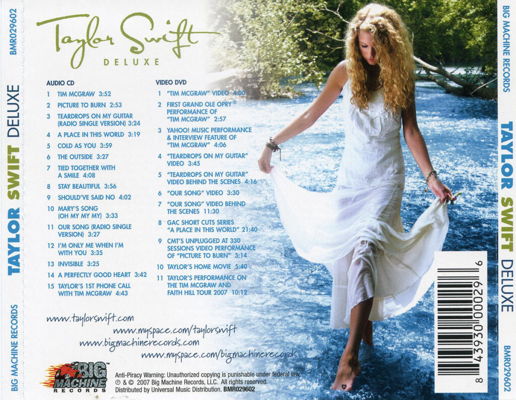 Taylor Swift (2006) Back Cover
