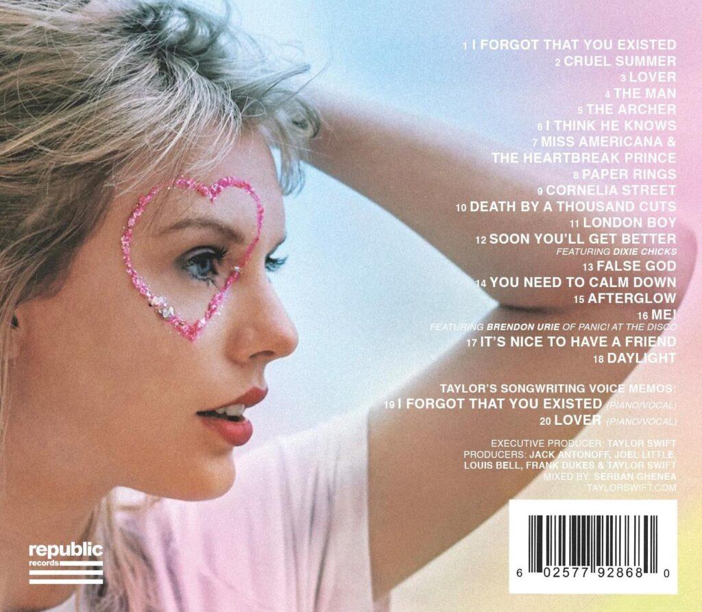 Lover (2019) Back Cover