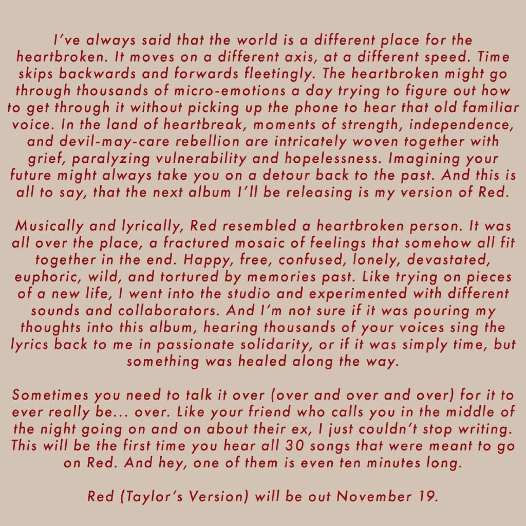 RED (Taylor's Version) Prologue