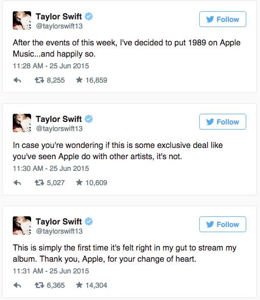 Taylor Swift: Apple Music Letter (2015)