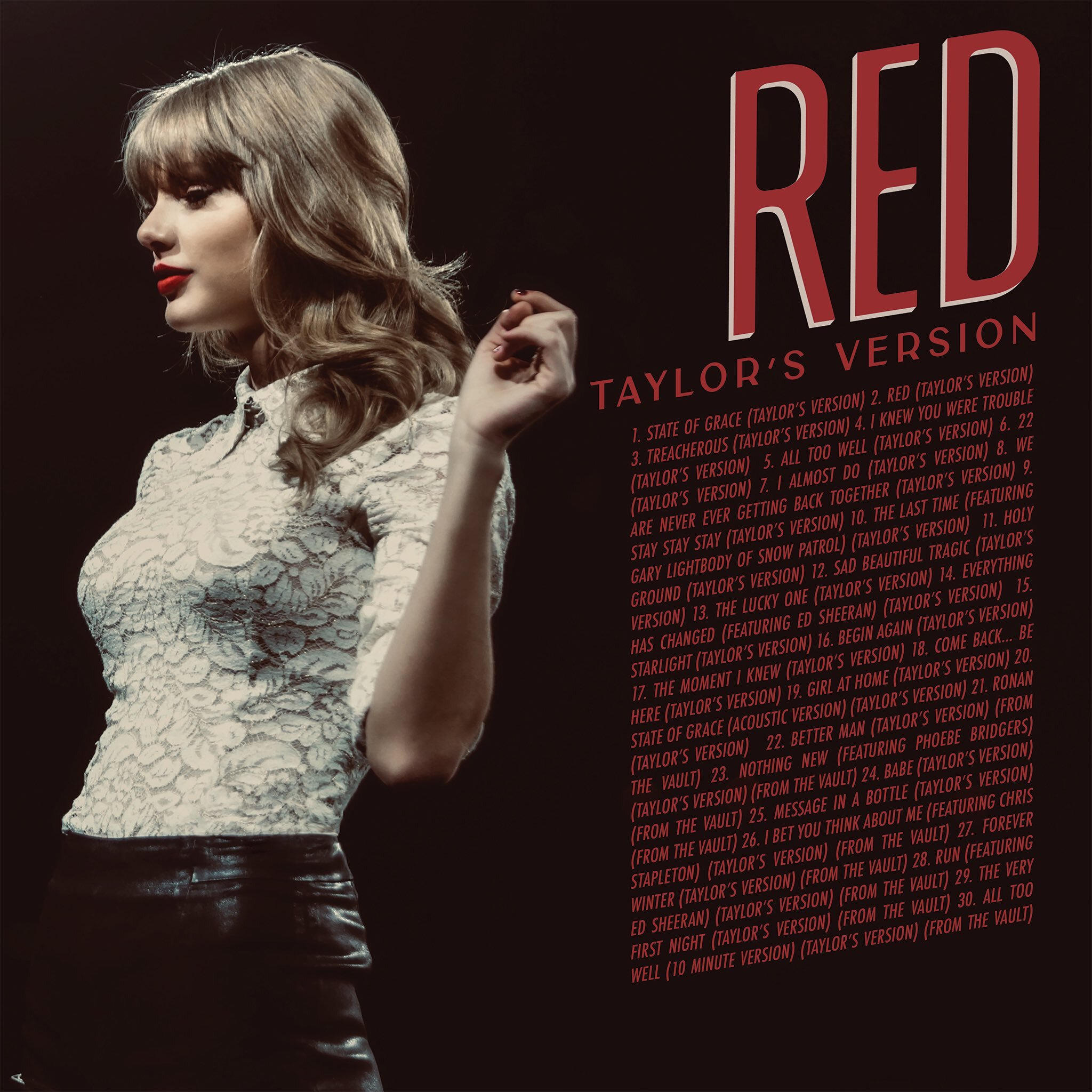 RED (Taylor's Version) Back Cover (2021)